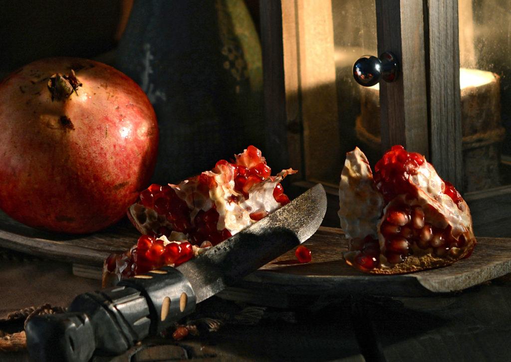 stilleben granatäpfel