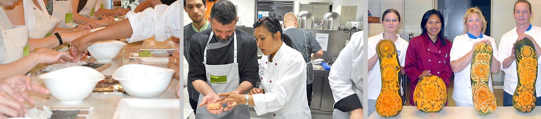 Workshops Kochen und Kunst