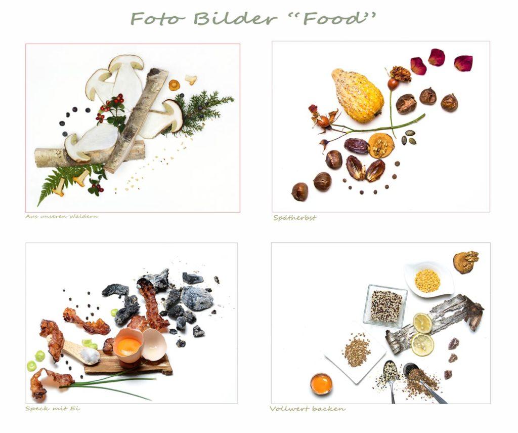 food bilder serie von 4