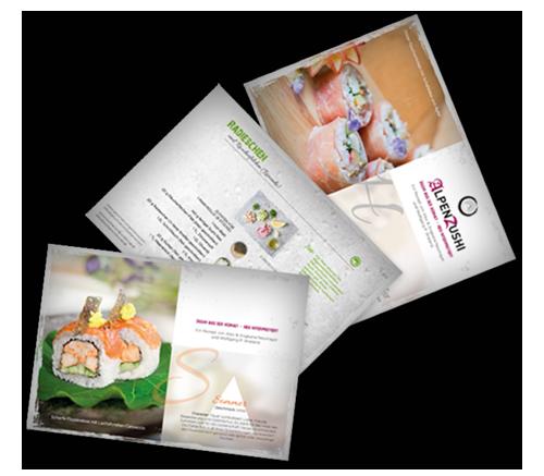 Rezeptkarten Kochen und Kunst