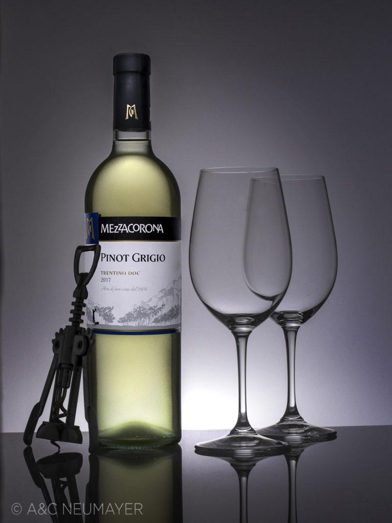 Weisswein mit gläser