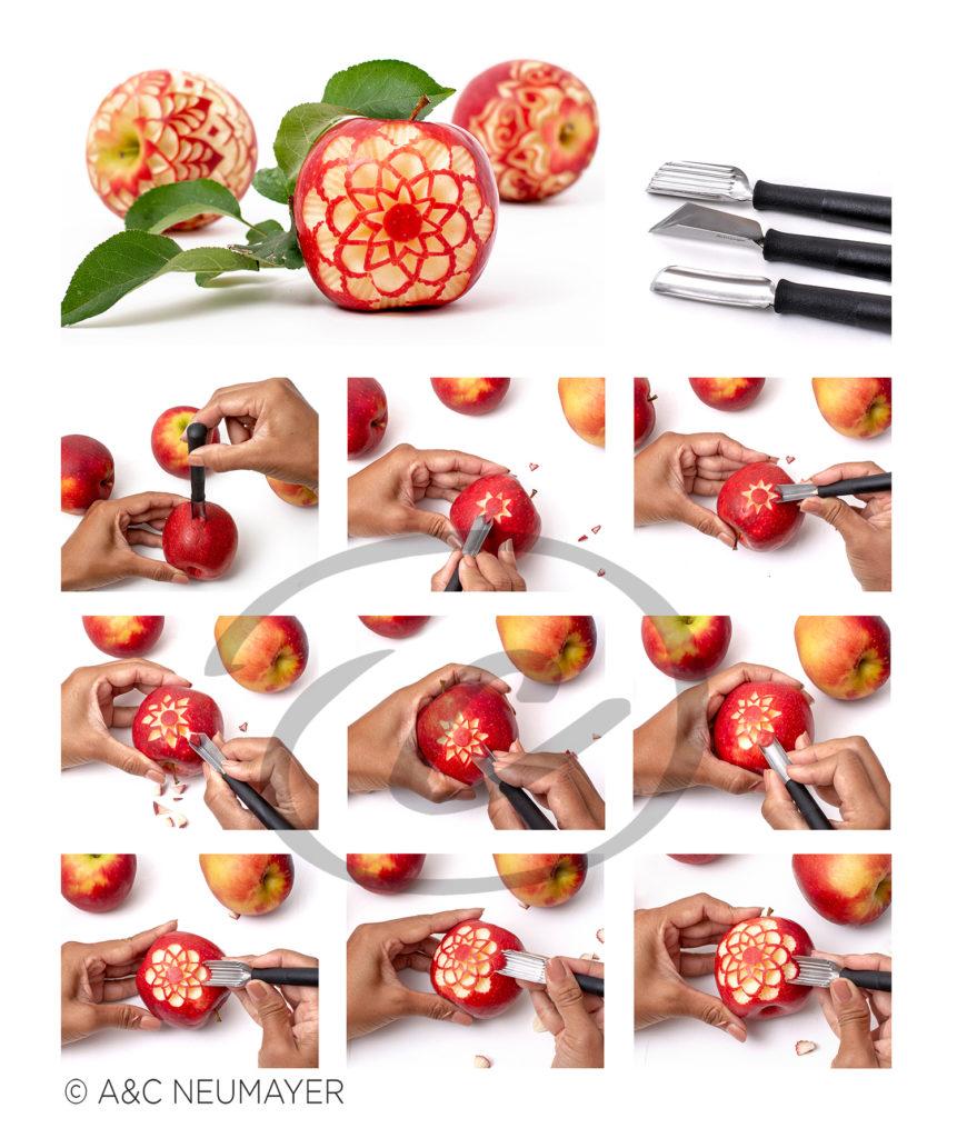 Äpfel schritt für schritt