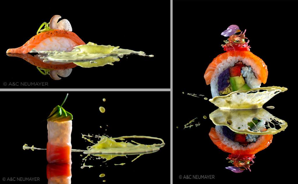 3 sushi avocado splash