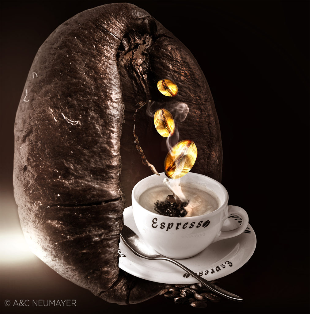 golden coffeee beans