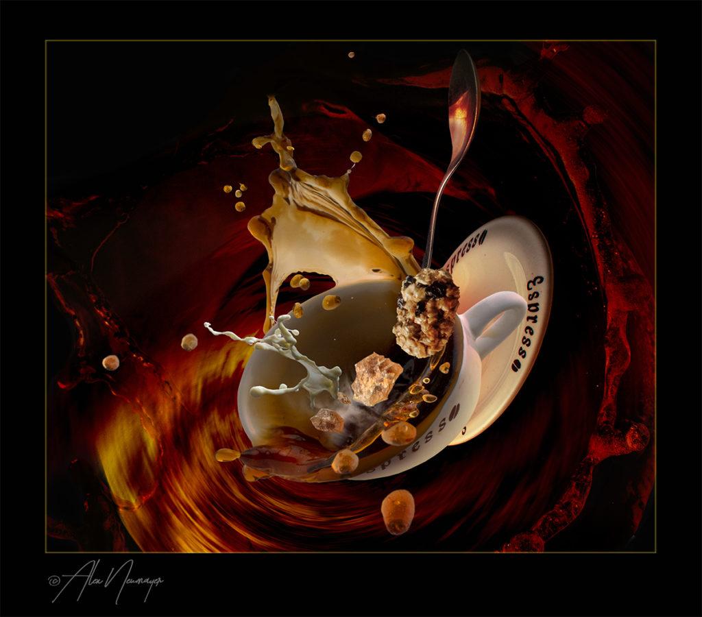 food art - kaffee splash ausschnitt