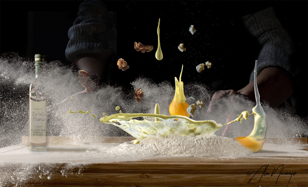 food in motion