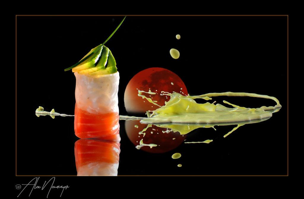 food art - maki mit blutmond