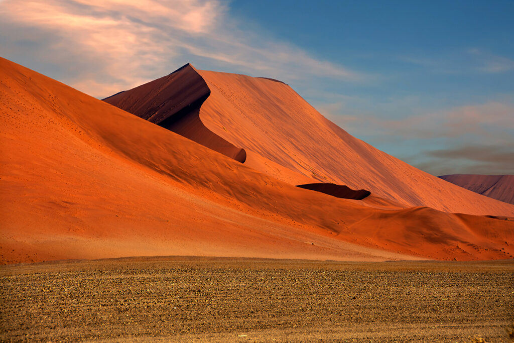 red sand dunes afternoon